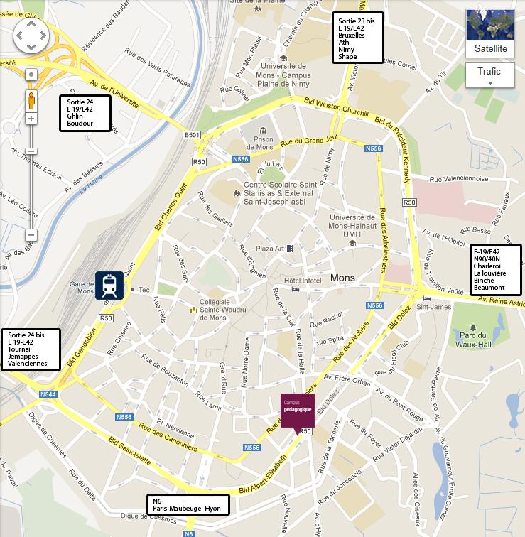 Plan De La Ville Hornu Belgique